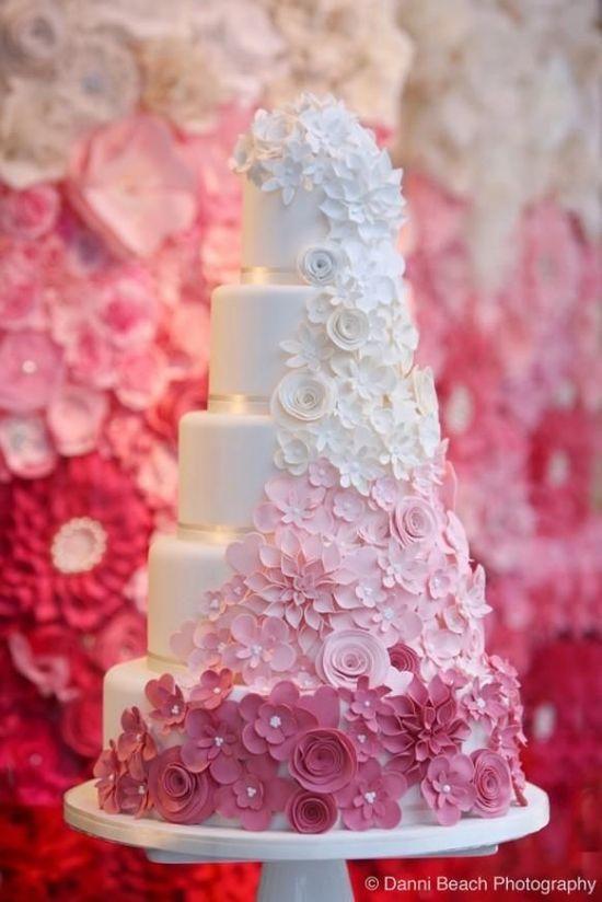 Hochzeitstorte Blumen Weiss Rosa Pink Hochzeitsblog Schweiz
