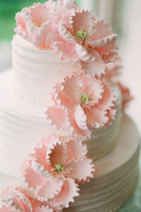 Hochzeitstorte Rosa Blumen Hochzeitsblog Schweiz