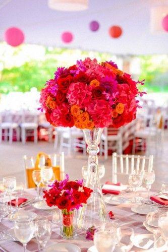 Tischdeko hochzeit orange pink hochzeitsblog schweiz for Tischdeko pink