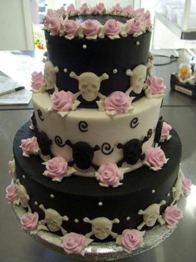 totenkopf torte rosa schwarz weiss hochzeitsblog schweiz. Black Bedroom Furniture Sets. Home Design Ideas