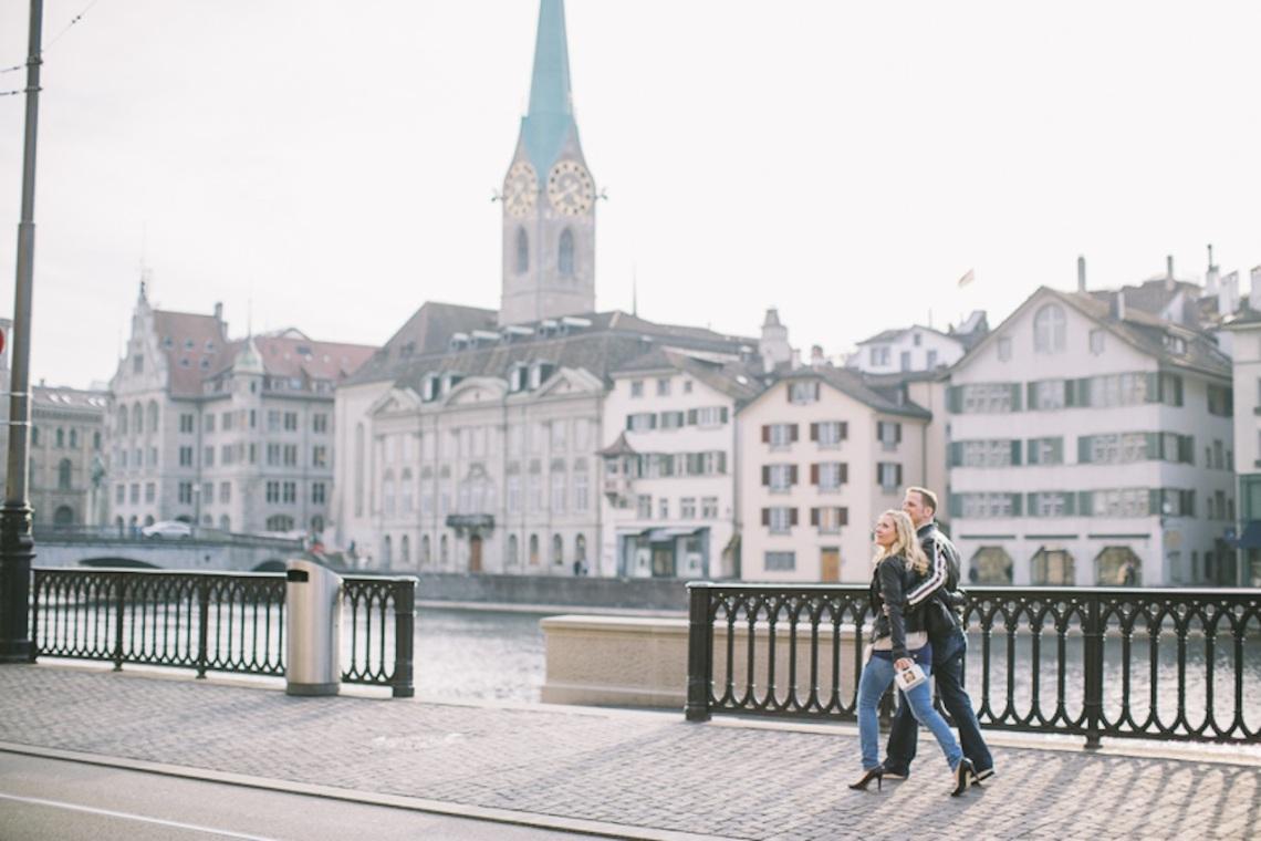 Engagement-Shooting Zürich Limmatquai Sandra Marusic