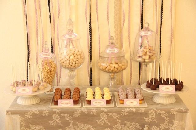 Candy Bar Hochzeit weiss Vintage (Large)