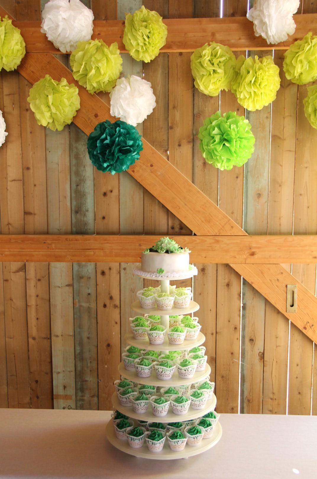 Cupcake Turm Grun Vintage Hochzeit Rustikal Large Hochzeitsblog