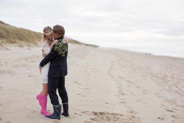 Hochzeit Sylt Meer Strand Gummistiefel
