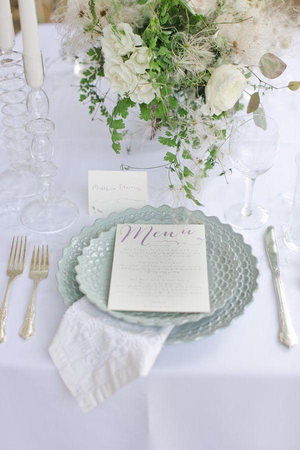 Tischdekoration Hochzeit Mintgruen Vintage Weiss