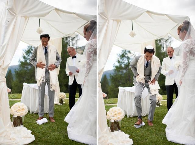 Hochzeit St. Moritz Suvretta Outdoor Zeremonie jüdisch
