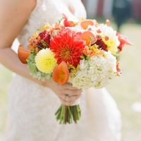 Heiraten im Herbst mit Dalien