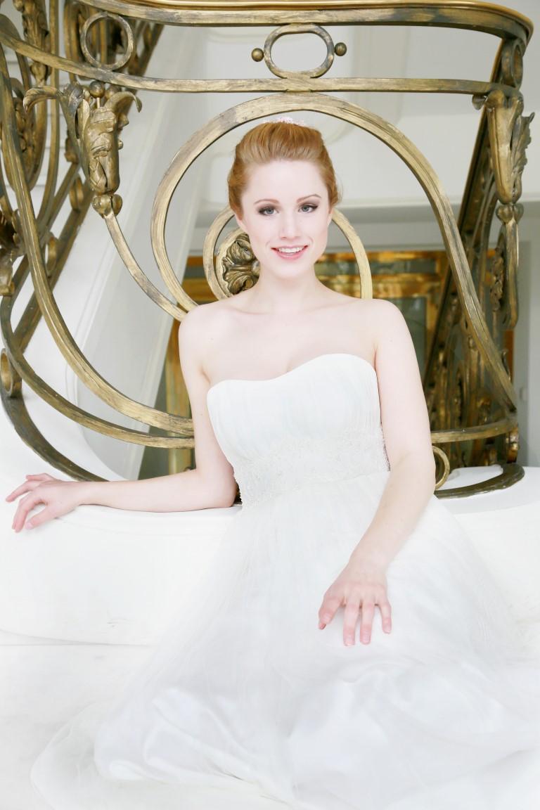 76 Felicia Brautkleid Hochzeitskleid Tüll Falten Herzausschnitt Fee ...