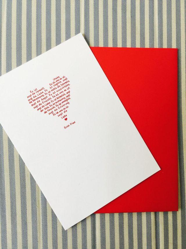 Glückwunschkarte Hochzeit Liebe Rot Trixi Gronau