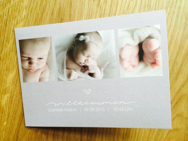 Geburtskarte sendmoments 3