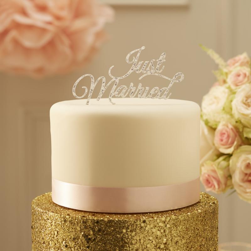 Caketopper Just Married Honeyhome Hochzeitstorte