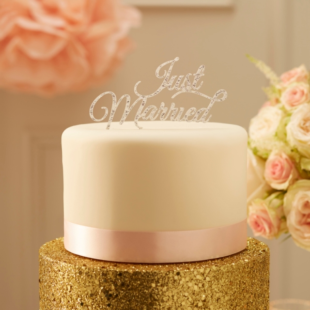 Caketopper Just Married Honeyhome Hochzeitstorte